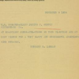 Letter : 1934 November 9