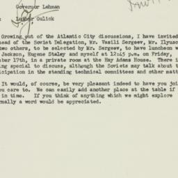 Letter : 1943 December 14