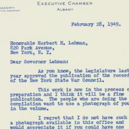 Letter : 1949 February 28