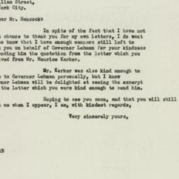 Letter : 1932 November 20