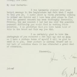 Letter : 1933 February 1