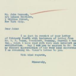 Letter : 1933 February 8