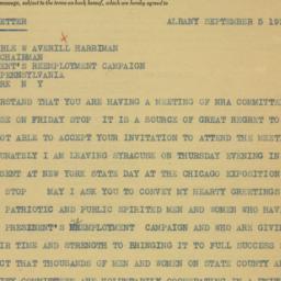 Letter : 1933 September 5
