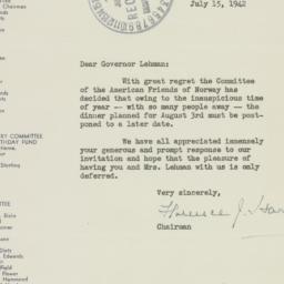Letter : 1942 July 15
