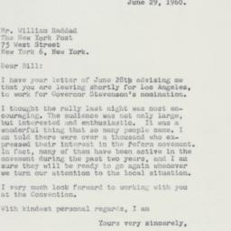 Press release : 1960 June 29
