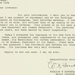 Letter : 1933 January 11