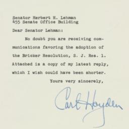 Letter : 1954 January 6