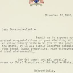 Letter : 1932 November 10