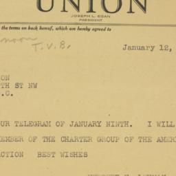 Letter : 1947 January 12