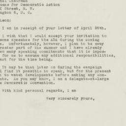 Letter: 1948 May 3