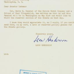 Letter : 1952 May 5