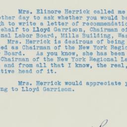Letter : 1934 August 18