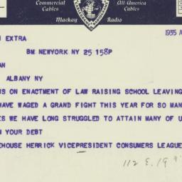 Letter : 1935 April 25