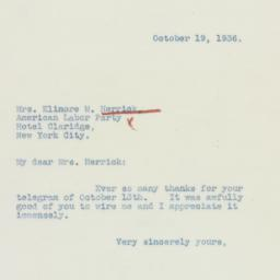 Letter : 1936 October 19