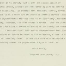 Letter : 1950 November 19