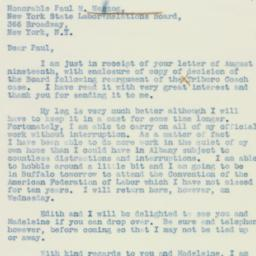 Letter : 1938 August 22