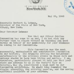Letter : 1940 May 29