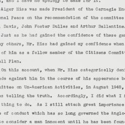 Memorandum : 1950 October 19
