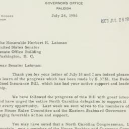 Letter : 1956 July 24