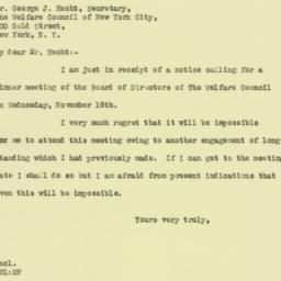 Letter : 1925 November 2