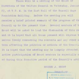 Letter : 1926 January 20