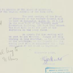 Letter : 1926 March 18