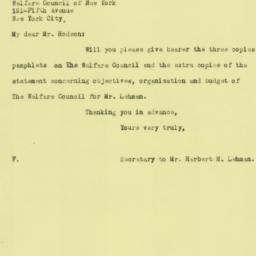 Letter: 1926 April 30