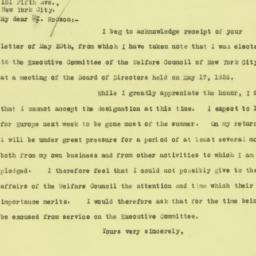 Letter : 1926 May 22