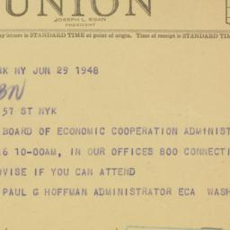 Letter : 1948 June 29
