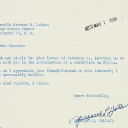 Letter : 1956 February 29