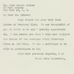 Letter : 1950 February 28