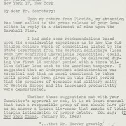 Memorandum : 1948 February 9