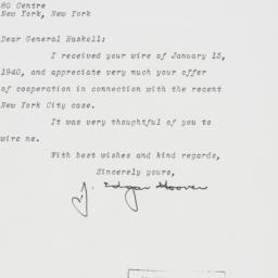 Letter : 1940 January 24
