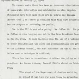 Letter : 1950 January 15