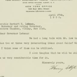 Letter: 1932 April 27