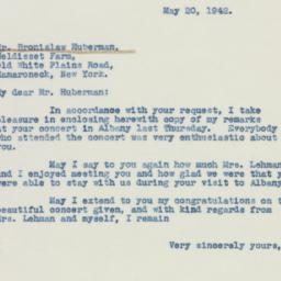 Letter : 1942 May 20