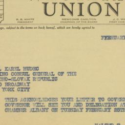 Letter : 1941 February 21