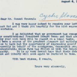 Letter : 1941 August 6