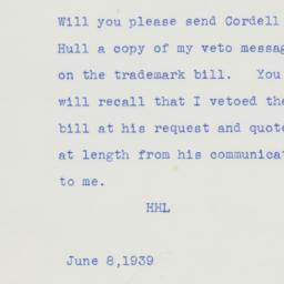 Letter : 1939 June 8