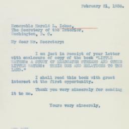 Letter : 1936 February 21