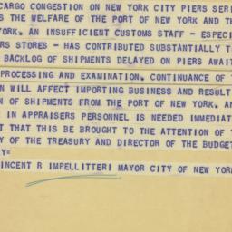 Telegram: 1951 February 13
