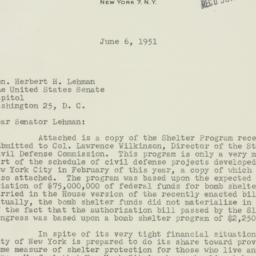 Letter : 1951 June 6