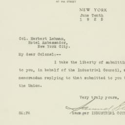 Letter : 1925 June 10