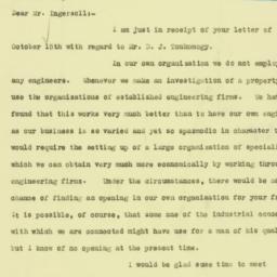 Letter: 1925 October 16