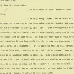 Letter: 1926 April 1