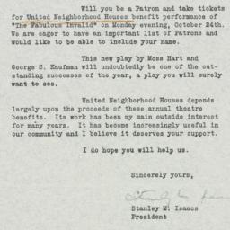 Letter : 1938 September 15