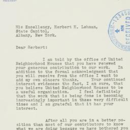 Letter : 1938 November 29