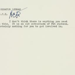 Memorandum : 1956 October 24