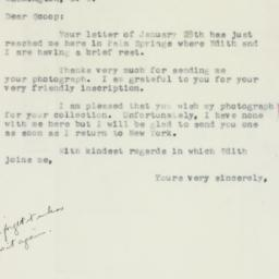 Letter : 1957 February 3