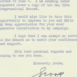 Letter : 1958 June 6